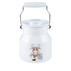 Riess Wasserkrug Riess Milchkanne mit Deckel Kuh 1,5 Liter Emaille