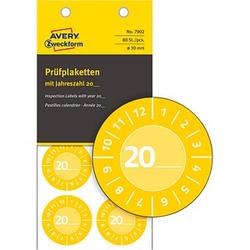 80 AVERY Zweckform Prüfplaketten 7902 gelb