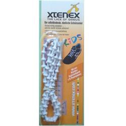 XTENEX Kids Schnürsenkel 50 cm weiß