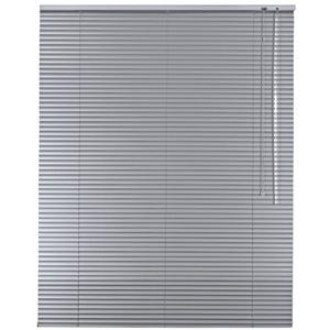 Alu Jalousie Aluminium Jalousette in Farbe Silber - Breite 40 bis 240 cm - Höhe 130/175 / 220 cm - Tür Fenster Rollo Jalousette Aluminium Fensterjalousie Lamellen Metall (40 x 130 cm)