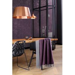 Wohndecke Plaid purple-graphit, BIEDERLACK, Decke