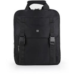 Gabol Dark Aktentasche Rucksack 38 cm Laptopfach schwarz