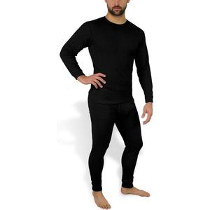 normani Kuschelig warme Winterunterwäsche/Thermounterwäsche -Unterhose und Hemd Farbe Schwarz Größe Größe 6 = S