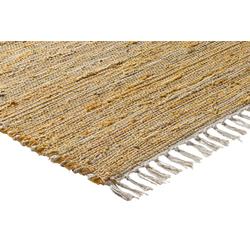 Teppich mit Naturfaser orange ca. 120/180 cm