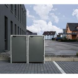 Hide Mülltonnenbox 240l Kunststoff, 2er Box, grau