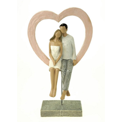 G. Wurm Dekofigur Liebespaar mit Herz mit Ständer 26 cm