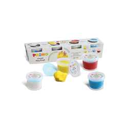 Primo Knete Softknete im Becher: 4 Farben, 4 Formen, glutenfrei