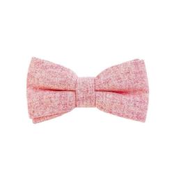 DonDon Fliege DonDon Herren Fliege 12 x 6 cm Baumwolle (1-St) bereits gebunden, verstellbar, Tweedlook rosa