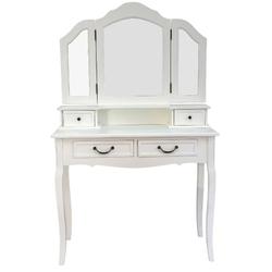 Casa Padrino Landhausstil Schminktisch Antik Weiß 90 x 40 x H. 148 cm - Landhausstil Möbel