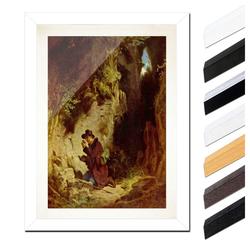 Bilderdepot24 Wandbild, Carl Spitzweg - Der Geologe bunt 20 cm x 30 cm