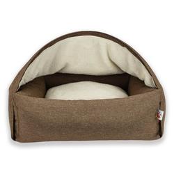 Sleepy Fox® Kuschelhöhlen Hundebett, M, 75 x B 85 x H 55 cm, braun