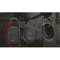 Tapplock Lite - ash black Vorhängeschloss 55mm Bluetooth Ash Black Fingerabdruckschloss, Bluetooth-