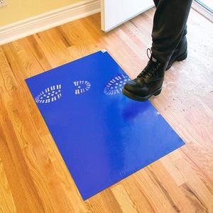 45 x 90cm Boden klebrige Matte, 120 Blatt (4 Blöcke à 30 Blatt) Reinraum klebrige staubentfernende Bodenschutzmatte Blau