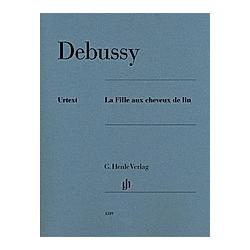 La Fille aux cheveux de lin  Klavier zu zwei Händen. Claude - La Fille aux cheveux de lin Debussy  - Buch