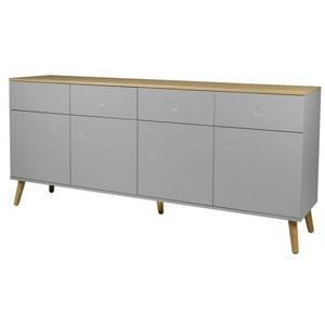 Tenzo Sideboard mit vier Türen verschiedene Farben DOT grau
