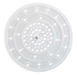 WENKO Abfluss-Sieb , Geeignet für die Dusche oder Spülbecken, Sieb aus Silikon, Ø 12 cm