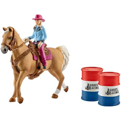 Schleich Barrel racing mit Cowgirl 41417