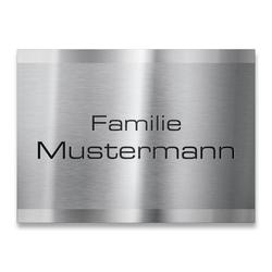 Namensschild mit Gravur aus Edelstahl 110x80mm