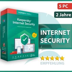 Kaspersky Internet Security 2020 5 Geräte / PC - 2 Jahre - ESD / Key