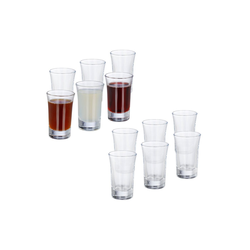 relaxdays Schnapsglas 12 x Schnapsgläser 4cl, Glas