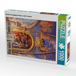 Kirche von Oppède-le-Vieux in der Provence Lege-Größe 48 x 64 cm Foto-Puzzle Bild von Christian Müringer Puzzle