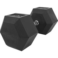 Hexagon Kurzhantel aus Gummi 40 kg