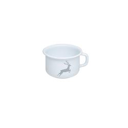 Riess Tasse Kaffeeschale Emaille Hirsch Grau, Emaille