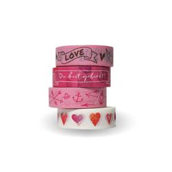 Washi Tapes Set Rosa Du bist geliebt!