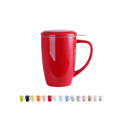 LOVECASA Tasse (1-tlg), Porzellan, Teebecher Kaffeebecher aus Porzellan rot