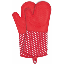 WENKO Topfhandschuhe, (Set, 2 tlg.), aus Silikon rot Topflappen und Topfhandschuh Kochen Backen Haushaltswaren Topfhandschuhe
