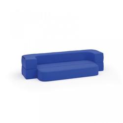 Sitzgarnitur softy, blau