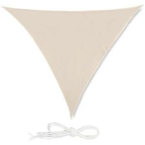 relaxdays Sonnensegel Sonnensegel Dreieck beige 250 cm x 0.5 cm x 300 cm