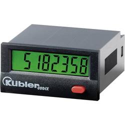 Kübler Impulszähler Codix 130 AC, Einbaumaße 45 x 22 mm, Hochspg. 10 - 260 V/AC/DC, 30Hz