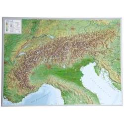 Alpen 1 : 1 200 000 - Wandkarten und Poster