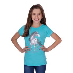 Trigema T-Shirt mit Pferd grün 104