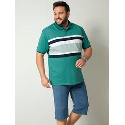 Poloshirt Men Plus Grün/Weiß