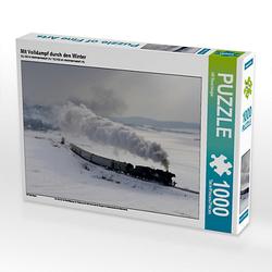 Mit Volldampf durch den Winter Lege-Größe 64 x 48 cm Foto-Puzzle Bild von HP Puzzle