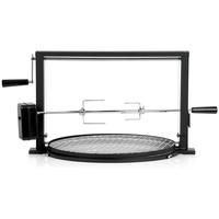 BBQ-Toro Grillspieß Set mit Grillrost, Rotisserie Grillaufsatz für Kugelgrill