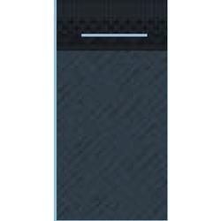 Mank UNI Pocket-Napkins Besteckservierttentasche, 40 x 40 cm, 1/8 Falz, 4-lagig, Farbe: schwarz, 1 Karton = 4 x 75 Stück = 300 Serviettentaschen