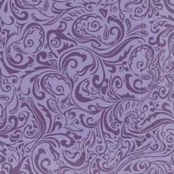 "Mank Tissue Servietten Ornaments ""LIAS"", 40 x 40 cm, 1/4 Falz, 3-lagig, 1 Karton = 6 x 100 Stück = 600 Servietten, lila"