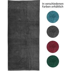 jilda-tex Strandtuch (1-St), mit 100% Bio-Baumwolle grau
