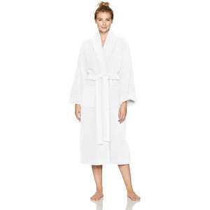 Pinzon Terry Cotton Bathrobe, White, Large/X-Large
