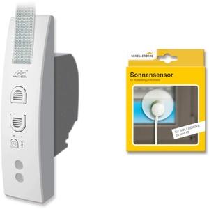 Schellenberg 22745 Elektrischer Gurtwickler RolloDrive 45 + Sonnensensor 22746, System Maxi für 23 mm Gurtbreite, Rolladenantrieb