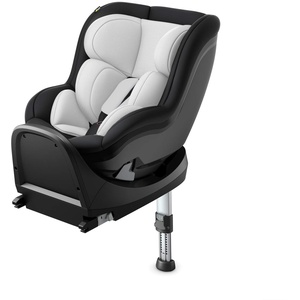 Hauck i-Size Reboard Kindersitz iPro Kids inkl. ISOFIX Station / nutzbar ab Geburt bis 105 cm (0 - 18 kg) / ECE R129 / Gruppe 0, 1, 2 / Einstellbare Kopfstütze / Bezug Abnehmbar Waschbar / Silber Grau