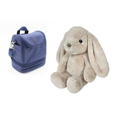 JOKA international Einschlafhilfe cloud b Bubbly Bunny und Thermo Lunchtasche Navy, (2-tlg)