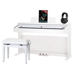 Classic Cantabile DP-50 WM E-Piano weiß matt SET mit Pianobank, Kopfhörer und Klavierschule