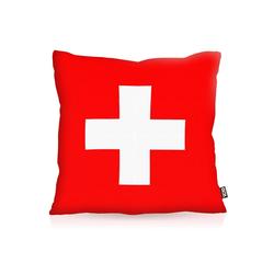 Kissenbezug, VOID, Schweiz Flagge Fahne Fan Fussball EM WM Suisse 40 cm x 40 cm