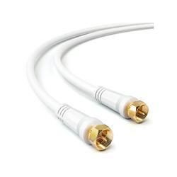 deleyCON deleyCON 10m SAT TV Antennenkabel Koaxial Kabel HDTV 4-fach Schirmung Weiß SAT-Kabel