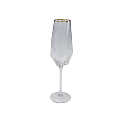 KARE Gläser-Set Sektglas Diamond Gold Rim
