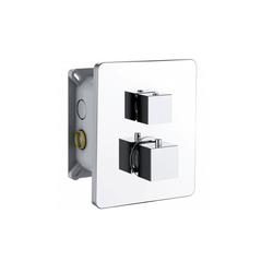 HAK Unterputzarmatur INCASSO UP Thermostat-Dusch-Armatur,mit Einbaubox mit Umsteller, 2 Wege, Chrom